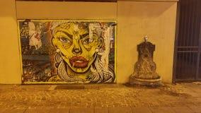 Straße Art Near Pompidou lizenzfreie stockbilder