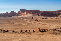 Straße in Atacama Lizenzfreie Stockfotos