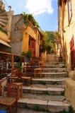 Straße in Athen Stockbild
