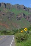 Straße auf Calchaquíes Tal nahe Salta Lizenzfreie Stockfotografie