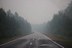 Straße auf dem Baikal Lizenzfreie Stockfotos