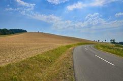 Straße auf dem Feld Lizenzfreies Stockfoto