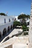 Straße in Paros Stockfotografie