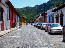 Straße bei Antigua Stockfotografie