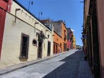 Straße bei San Miguel de Allend Stockfotografie