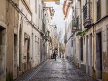 Straße in Beja, Portugal lizenzfreies stockfoto