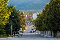 Straße in Berane, Montenegro Lizenzfreies Stockfoto