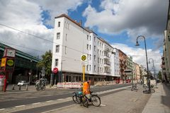 Straße in Berlin Lizenzfreies Stockbild