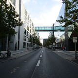 Straße in Berlin stockbild