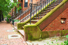 Straße in Boston Stockfotos