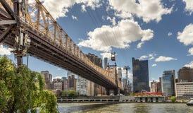 59 Straße Brücke in Manhattan Stockbild