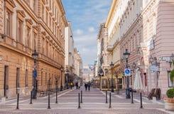 Straße in Budapest, Ungarn Lizenzfreies Stockbild