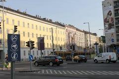 Straße in Budapest, Ungarn Lizenzfreie Stockbilder