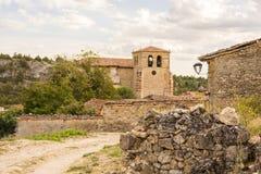 Straße Calatanazor, Soria, Spanien Lizenzfreies Stockbild