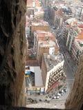 Straße Carrer de Sardenya in Barcelona, Spanien Lizenzfreies Stockfoto