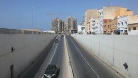 Straße in Casablanca, Marokko stock video