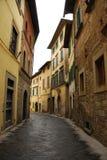 Straße in Castiglion Fiorentino stockfotos