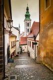 Straße Cesky Krumlov Lizenzfreies Stockfoto