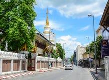 Straße in Chiang Mai, Thailand Lizenzfreies Stockbild