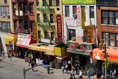 Straße in Chinatown, New York Stockbilder