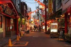 Straße in Chinatown Yokohama, Japan Stockbild