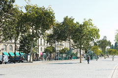 Straße Cours Franklin Roosevelt in Nantes, Frankreich Stockfoto