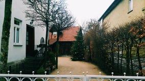 Straße in Degerloch, Deutschland Lizenzfreies Stockbild