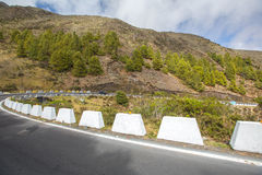 Straße in den Bergen in Mérida Stockfotos