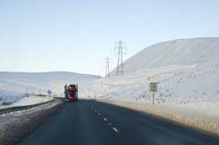 Straße in den Hochländern von Schottland Stockbild