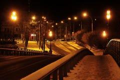 Straße in den Leuchten Stockfoto