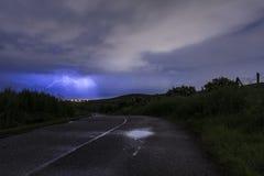 Straße in den Sturm Lizenzfreies Stockfoto