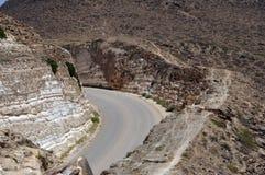 Straße in den von Oman Bergen Lizenzfreie Stockfotografie