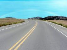 Straße in den Wichita-Bergen stockbild