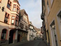 Straße in der alten deutschen Stadt lizenzfreies stockfoto
