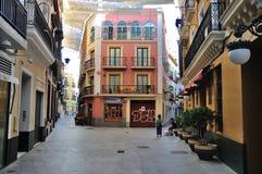 Straße der alten spanischen Stadt sevilla Stockbild