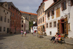 Straße in der alten Stadt Stockfotografie