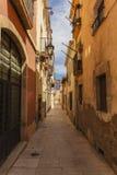 Straße in der alten Stadt Stockbilder