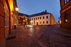 Straße der alten Stadt Stockfoto