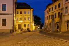 Straße der alten Stadt Stockbild