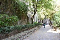 Straße der alten Stadt in Bergamo Lizenzfreies Stockbild
