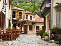 Straße der alten Stadt in Montenegro Lizenzfreie Stockfotografie