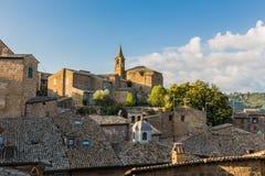Straße in der alten Stadt Orvieto, Umbrien, Italien Stockbild