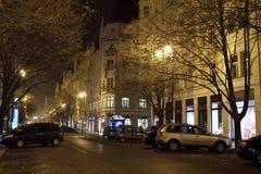Straße in der alten Stadt. Prag Stockfotografie