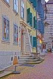 Straße in der alten Stadt in Solothurn Lizenzfreie Stockfotos