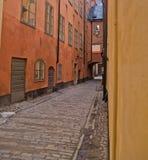 Straße der alten Stadt, Stockholm Stockfotografie