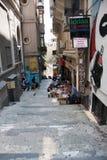 Straße in der alten Stadt von Istanbul Die Türkei Lizenzfreie Stockfotografie