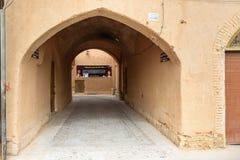 Straße der alten Stadt in Yazd iran Stockfotos