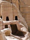 Straße der Fassaden, PETRA Jordanien lizenzfreies stockbild