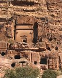 Straße der Fassaden, PETRA, Jordanien stockbilder