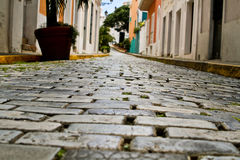 Straße der Felsen, altes San Juan, Puerto Rico 3 Lizenzfreies Stockbild